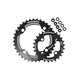 Race Face Turbine Chainring Set 4 Bolt 26/36 2x11-fach schwarz